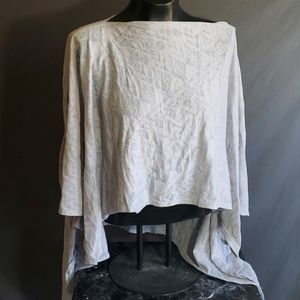 Fabletics Light Pastel Gray One Size Poncho Top